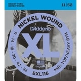 D'Addario EXL116 MEDIUM TOP/HEAVY BOTTOM .011 - .052 Nickel Wound - struny na elektrickou kytaru