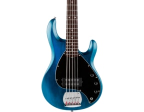 Sterling SUB Ray5 Trans Blue Satin, Rosewood Fretboard