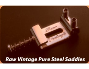 Raw Vintage RVS 112 Pure Steel Saddles - Fender USA typ