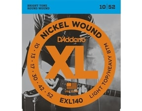 D´Addario EXL 140 Light Top / Heavy Bottom - 10 / 52