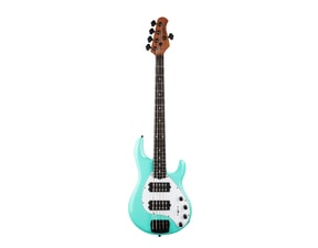MusicMan Stingray 5 Special HH  Cruz Teal Color, Ebony Roasted Neck, White Pickguard, Black Hardware