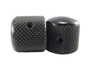 6355 BLACK TELE KNOBS - 2ks