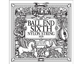 1526 Ernie Ball Black E6 Nylon Classical Ball End - 1ks