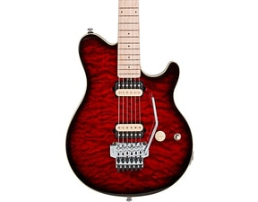 Sterling by MusicMan AX40D RRB Ruby Red Burts, Axis model s DiMarzio snímači