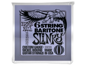 2839 6-string Baritone Slinky w/ small ball end 29 5/8 scale .013p - .072