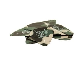 9221 Ernie Ball Camouflage Thin 0.46mm Cellulose Pick - kamufláž design, tenké, celuloidové trsátko 1ks