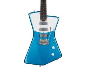 Sterling by MusicMan St. Vincent Guitar STV60-VBL, Vincent Blue, White Pickguard
