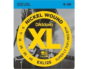 D´Addario EXL 125 Super Light top / Reg. Bottom - 9 / 46