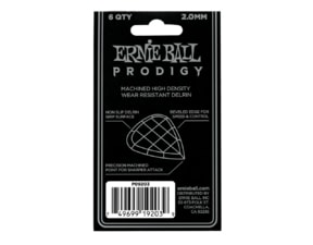 9203 Ernie Ball Prodigy White 3s Mini 2.0mm Picks - kytarové trsátko 1ks