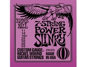 2620 7-string Power Slinky Nickel Wound .011 - .058 Purple pack