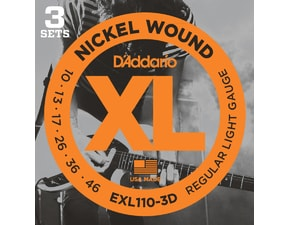 D´Addario EXL110-3D Nickel Wound Electric Regular Light .010-.046 struny na elektrickou kytaru 3 PACK