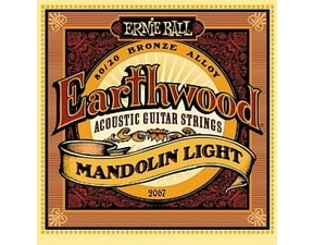 2067 Ernie Ball Earthwood Mandolin Light 80/20 Bronze Loop End Set, .009 - .034