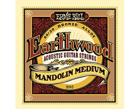 2065 Ernie Ball Earthwood Mandolin Medium 80/20 Bronze Loop End Set, .010 - .036