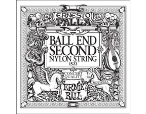 1522 Ernie Ball Black E2 Nylon Classical Ball End - 1ks