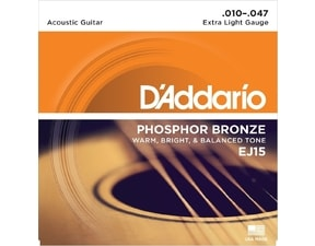 D´Addario EJ15 Phosphor Bronze, Extra Light, 10-47