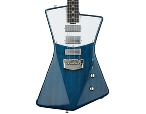 MusicMan St. Vincent Guitar, Translucent Blue, Wenge Board, CUSTOM BFR Model