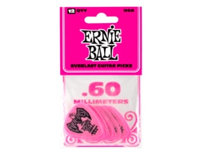 9179 Ernie Ball Everlast Picks Pink .60mm - kytarová trsátka 1ks