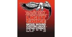 2208 Light Electric Nickel Wound .011 - .052 w/ wound G