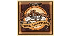 Ernie Ball 2061 Earthwood 5-String Banjo Frailing Loop End 80/20 Bronze Acoustic Guitar Strings