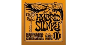 2222 Hybrid Slinky Nickel Wound .009 - .046 Orange Pack