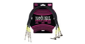 6076 1.5FT STRGHT/ANGLE 3PK BLK PATCH CABLE B