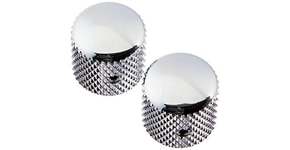 6354 CHROME TELE KNOBS - 2ks