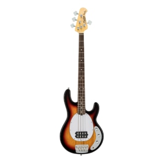 Sterling By MusicMan Classic Active RAY24CA-3TS 4 String Bass, 3 Tone Sunburst finish, 2 band EQ, Mahagony body, Antique Stained maple neck