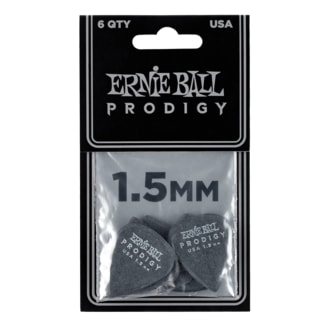 9199 Ernie Ball Prodigy Black 1s Standard 1.5mm Picks - kytarová trsátka 1ks