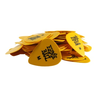9117 Ernie Ball Celulose Picks - trsátko SIDEMAN MEDIUM YELLOW .72mm - 1 Ks