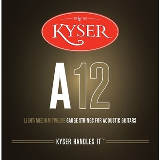 Kyser USA LIGHT/MEDIUM A12, 92/8 phosphor bronze, 12-53 - struny na akustickou kytaru