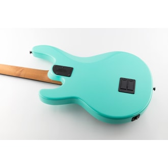 MusicMan Stingray 4 Special Humbucker - Cruze Teal color - White pickguard - Roasted javorový krk