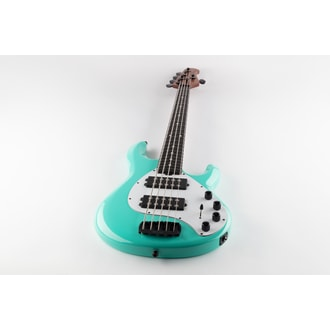 MusicMan Stingray 5 Special HH - Cruz Teal Color - Ebony Roasted Neck - White Pickguard - Black Hardware