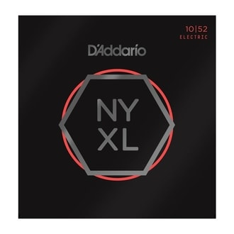 D´Addario NYXL1052 Nickel Wound Electric Guitar Strings, Light Top / Heavy Bottom, 10-52