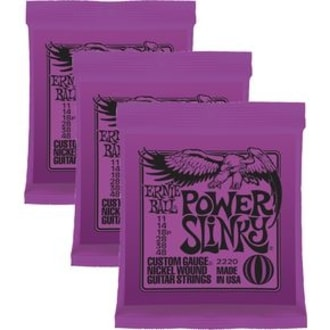3220 Power Slinky Nickel Round Wound Electric Guitar Strings 3 Pack