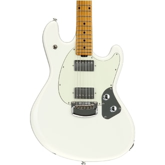 MusicMan StingRay HH Guitar, Ivory White, Mint Pickguard