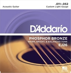 D´Addario EJ26 Light Phosphor Bronze 11- 52