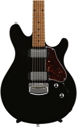 MusicMan Valentine Guitar, Trans Black, Roasted Maple Neck